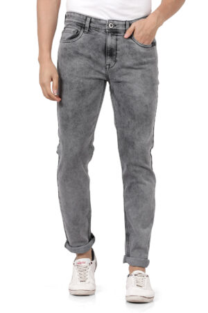 Derby Grey Faded Slim Fit Jeans