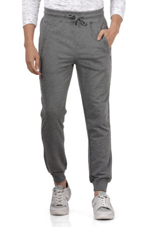 Derby Charcoal Solid Slim Fit Knitted Jogger