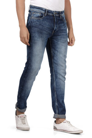 Derby Blue Faded Slim Fit Jeans