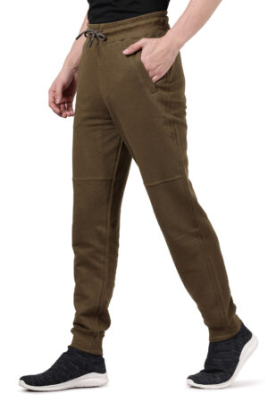 Derby Olive Solid Slim Fit Knitted Jogger